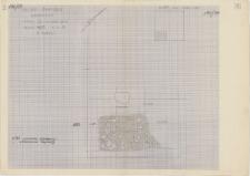 KZG, VI 401 C, plan archeologiczny wykopu (rumosz kamienny i zlasowana zaprawa)
