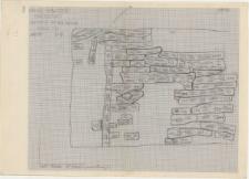 KZG, VI 502 C, plan archeologiczny wykopu