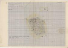 KZG, VI 602 A, plan archeologiczny wykopu