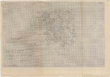 KZG, VI 602 AC, plan archeologiczny wykopu, ława kamienna