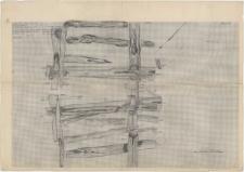 KZG, VI 602 C, plan archeologiczny wykopu, konstrukcje drewniane