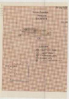 KZG, VI 401 B, profil archeologiczny wykopu
