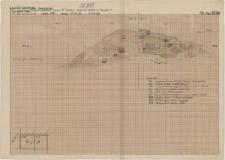 KZG, VI 401 BD, profil archeologiczny N świadka z prezbiterium kościoła A (kościół A i kolegiata)