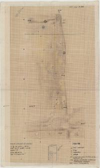 KZG, VI 401 D, 402 C, plan archeologiczny wykopu