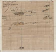 KZG, VI 401 BD, plan archeologiczny wykopu