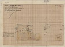 KZG, VI 401 D, 501 B, plan archeologiczny sondażu w absydzie kościoła Św. Pawła