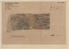 KZG, VI 501 BD, plan archeologiczny drewnianej konstrukcji wału