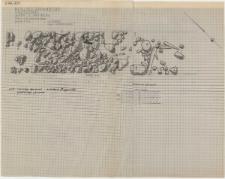 KZG, I 97 D, 98 C; IV 97 A, 98 B, plan archeologiczny wykopu