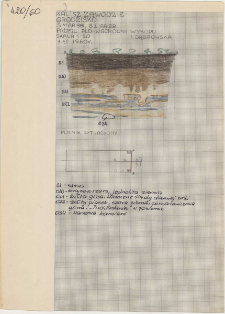 KZG, I 98 C, IV 98 A, profil archeologiczny S wykopu