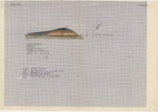 KZG, I 700 D, profil archeologiczny paleniska