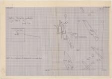KZG, I 600 D, plan wykopu archeologicznego