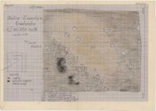 KZG, I 600 B, plan archeologiczny wykopu