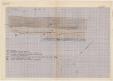 KZG, IV 299 A C, profil archeologiczny N wykopu