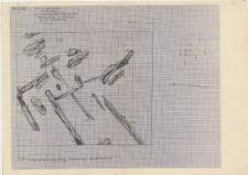 KZG, I 496 B, 497 A B, 597 C D, plan archeologiczny wykopu