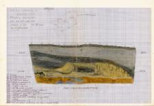 KZG, I 499 AB, profil archeologiczny W wykopu