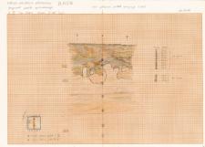 KZG, VI 301 D, profil archeologiczny W wykopu (szkic)