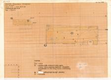 KZG, VI 301 D, profil archeologiczny W i plan wykopu