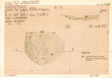KZG, VI 301 D, profil archeologiczny i plan wykopu