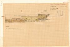 KZG, VI 301 D, profil archeologiczny S wykopu