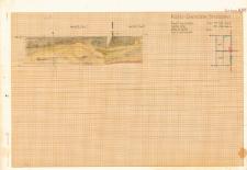 KZG, VI 301 D, 302 C, profil archeologiczny E wykopu