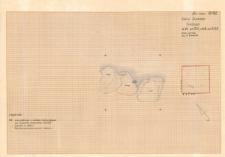 KZG, VI 301 B, plan archeologiczny wykopu