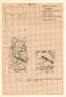 KZG, VI 301 C, plan archeologiczny wykopu