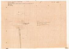 KZG, VI 302 C, plan archeologiczny wykopu (szkic)