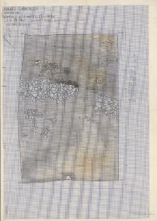 KZG, V 16 C D, 21 A B, plan archeologiczny wykopu