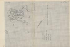 KZG, V 15 C, plan archeologiczny wykopu