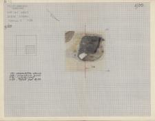 KZG, V 20 C, plan archeologiczny paleniska nr 3