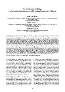 The Settlement of Bodaki – a Tripolian-Culture Centre of Flint Exploitation in Volhynia