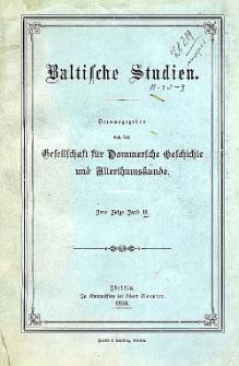 Baltische Studien. Neue Folge Bd. 2 (1898)