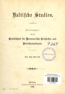 Baltische Studien. Neue Folge Bd. 3 (1899)