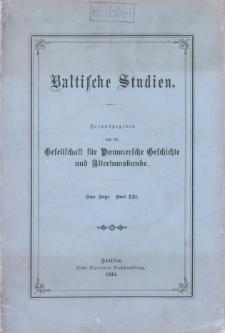 Baltische Studien. Neue Folge Bd. 21 (1918)
