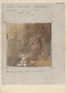 KZG, V 20 B, plan archeologiczny wykopu