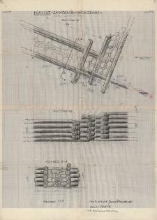 KZG, V 20 B D, plan archeologiczny wykopu oraz przekroje