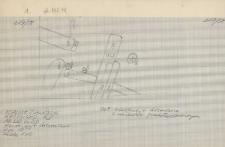 KZG, V 20 B D, plan archeologiczny wykopu (fragment)