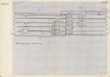 KZG, V 20 B D, szkic archeologiczno-architektoniczny konstrukcji drewnianych
