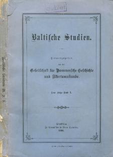 Baltische Studien. Neue Folge Bd. 10 (1906)