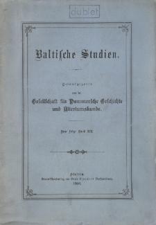 Baltische Studien. Neue Folge Bd. 19 (1916)