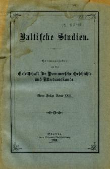 Baltische Studien. Neue Folge Bd. 23 (1920)