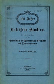Baltische Studien. Neue Folge Bd. 26 (1924)