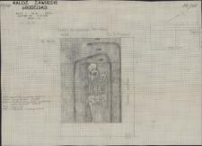 KZG, V 20 D, plan archeologiczny wykopu