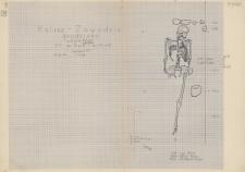 KZG, V 15 D, 20 B, plan archeologiczny wykopu, cmentarz (grób 9/60)