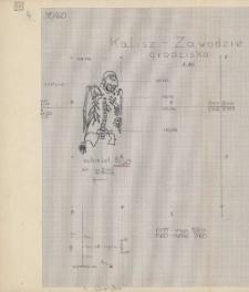 KZG, V 15 D, 20 B, plan archeologiczny wykopu, cmentarz (grób 5/60)