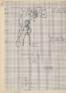 KZG, V 15 D, plan archeologiczny wykopu, cmentarz (groby 7/60, 8/60)