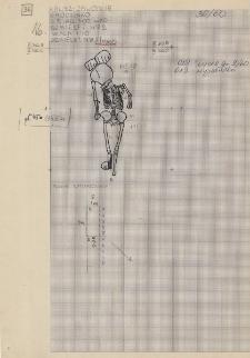 KZG, VI 302 D, plan archeologiczny wykopu, cmentarz (grób 2/60)