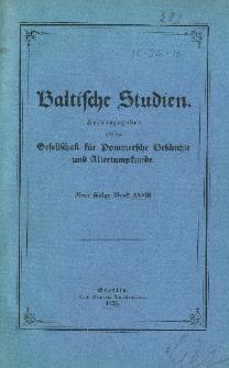 Baltische Studien. Neue Folge Bd. 28 (1926)