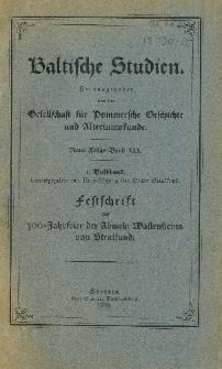 Baltische Studien. Neue Folge Bd. 30, z. 1 (1928)