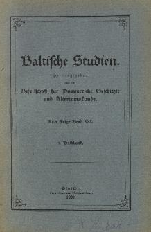 Baltische Studien. Neue Folge Bd. 30, z. 2 (1928)